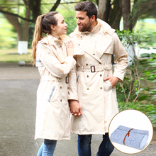 1pcs Unisex Waterproof Raincoat with Pocket Women Rain Coat Hiking Tour Hooded Adult Poncho Cape Cover