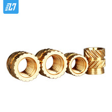 M3 Brass Heating Molding Nut Copper Thread Inserts Nut SL-type Double Twill Knurled Injection For 3D Printing