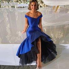 Новое модное вечернее платье с v образным вырезом Королевского