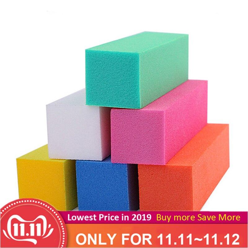 5pcs/lot Colorful Buffing Sanding Nail Buffer Block Files Acrylic Sponge Files Pedicure Manicure Care Nail Art Tips Salon Tools