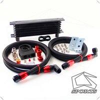 Universal an10 termostática kit radiador de óleo termostato alta perfomance 7 fileiras