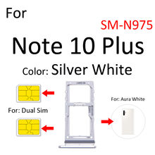 Sim Card Tray Socket Slot Reader Adapter For Samsung Galaxy Note 10 Plus 5G N970 N975 N976 Micro SD Holder Connector Container