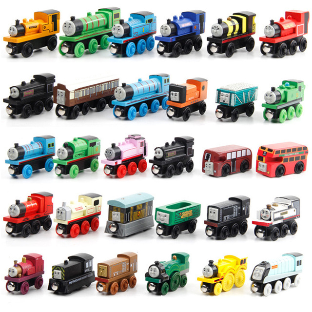 New Emily Wood Train Magnetic Wooden Trains Model Car Toy Compatible with Brio Brand Tracks Railway Locomotives Toys for Child 2
