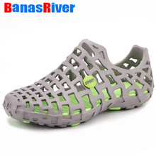UEXIA 2020 Hole Male Shoes Croc Green Garden Casual Clogs For Men Sandals Summer