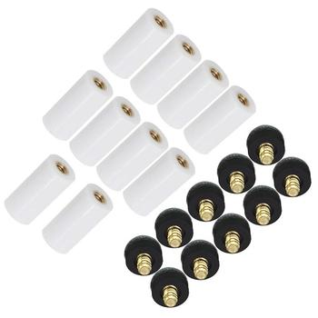 10pcs/set Cue Tips Billiard Replacement Screw-on Tips with Pool Cue Stick Ferrules tips on type