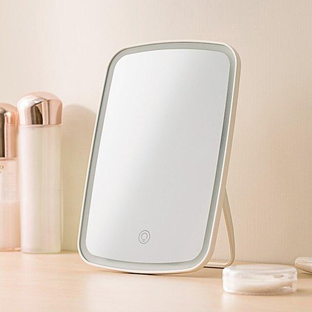 Draagbare Led Make Up Spiegel Intelligente Verstelbare Opvouwbare Make Up Spiegel Touch gevoelige Controle Led Vanity Spiegel Met Verlichting