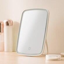 Espelho de maquiagem com luzes led, portátil, espelho inteligente, dobrável, de maquiagem, sensível ao toque, com iluminação