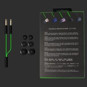 Image 4 - Kablolu kulakiçi özel ayarlı çift sürücü In Line Mic ses kontrolü alüminyum çerçeve dolaşmayan düz kablo Stereo çinde kulaklıklar