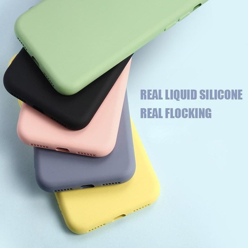 Liquid Silicone Phone Case for Samsung Galaxy a51 a71 s20 plus ultra m30s a30 a50 a70 a7 5