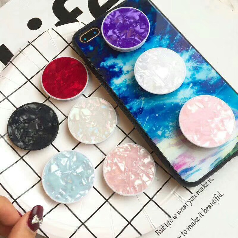 Cute Plastic Conch Shell Finger Ring Holder Extendable Mobile Phone Grip Holder Foldable Holders For Xiaomi/Samsung/Huawei