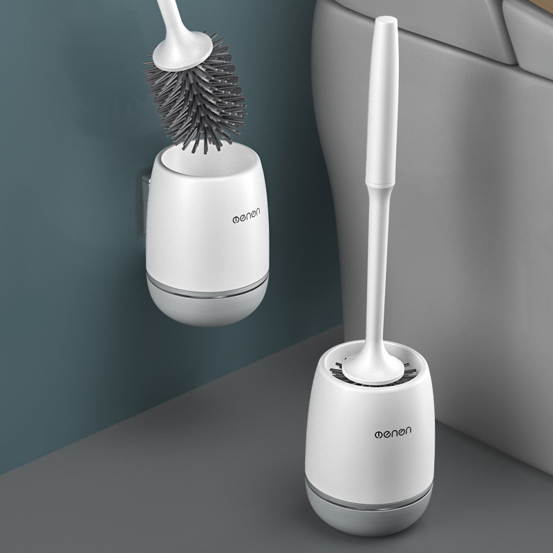 Toilet Brush No Dead Angle Toilet Brush Wall Hanging Long Handle Silicone Brush Wall Hanging Household