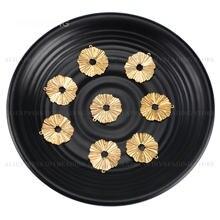 10-500 pc bronze pingente charme para fazer jóias/enrugado círculo ondulado flor encontrar para feminino brinco colar que faz suprimentos