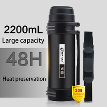 1.2L,1.8L,2.2L Stainless Steel Vacuum Flask Outdoor Travel Bottle Large Capacity Thermos