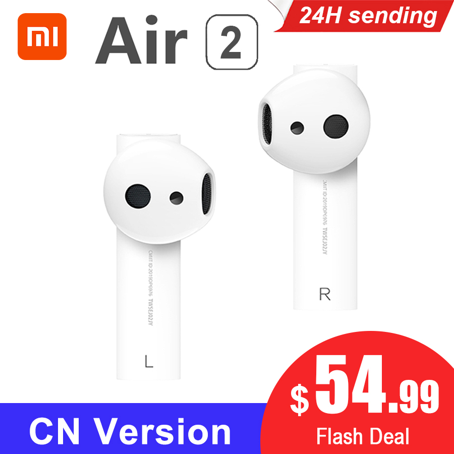 Original Xiaomi Air 2 <font><b>TWS</b></font> Airdots Pro 2 Mi Air 1 True Wireless Earphones ENC Bluetooth <font><b>5</b></font> Tap Control Voice Control LHDC Dynamic image