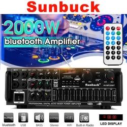 2000W 110V 220V 2 Kanaals Equalizer Home Bluetooth Stereo Eindversterker Usb Auto Versterker Home Theater Versterkers audio