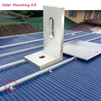 5pcs solar panel mounting brackets kit aluminum  L  feet clamp fixed on home solar panel   with screws on off  grid solar system solar panel home350w 36v 10pcs zonnepanelen 3500 watt 3 5kw solar battery charger on off grid solar power system roof floor