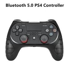 Playstation 4 controlador sem fio bluetooth 5.0 gamepad altamente sensível sistema de detecção de seis eixos controlador do joystick da almofada de toque
