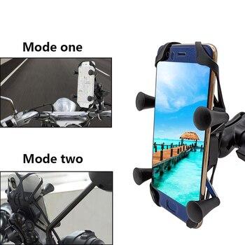 Mit USB Ladegerät 360 Drehbare Motorrad Handy Ständer Halter Für Suzuki GSF1200 GSF1250 GSF650 BANDIT Dl 1000 650