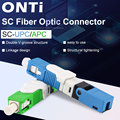 ONTi Free Shipping FTTH ESC250D SC APC and SC UPC Single-Mode Fiber Optic Quick Connector FTTH SM Optic Fast Connector