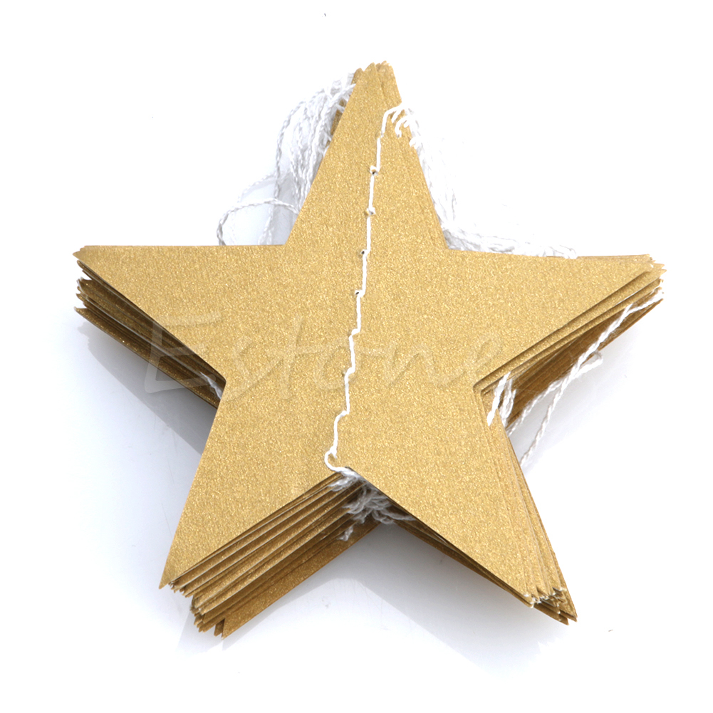 Fashion Paper Garland Strings Star Shape Wedding Bridal Hanging Decoration New in Party DIY Decorations from Home Garden