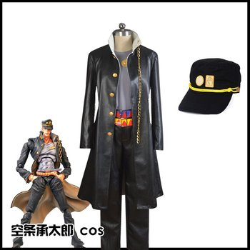 Anime Kujo Jotaro Cosplay disfraces Anime JoJos Bizarre Adventure Halloween fiesta hombres mujeres ropa conjunto completo