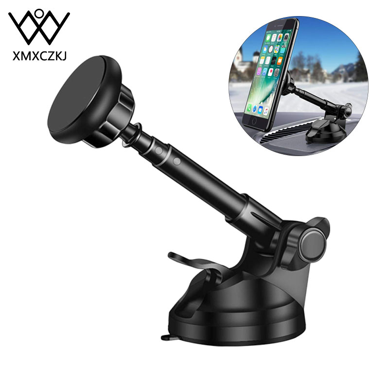 Universal Magnetic Phone Holder For IPhone 11Pro 8 7 Plus Xiaomi Car Phone Holder For Car Windshield Dashboard Mount With Cradle