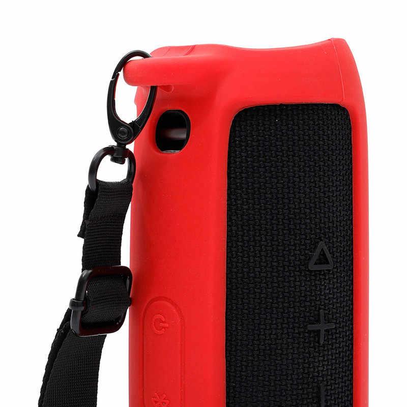 EPULA Silikon Schutzhülle Tragen Fall Hohl Design Für JBL Flip 5 Bluetooth Lautsprecher Zubehör Reise Abdeckung Shell Fall