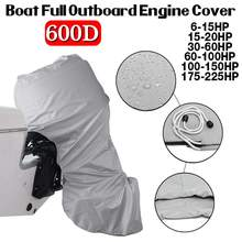 600D 6 225HP Boat Full Outboard Engine Cover Grey Engine Motor Covers Protector For 6 225HP Waterproof