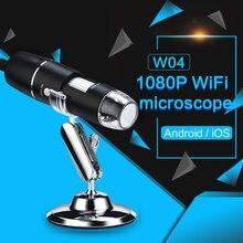 лучшая цена WIFI 1000X Real-Time Video Photos Electron Microscope Wi-Fi Microscope Portable Mobile Phones Inspection Digital Microscope