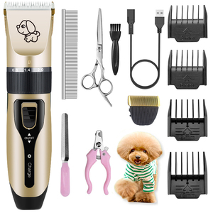 Electrical Dog Hair Trimmer USB Charging Pet Hair Clipper Rechargeable Low-noise Cat Hair Remover Grooming Hair Cutter Machine(China)