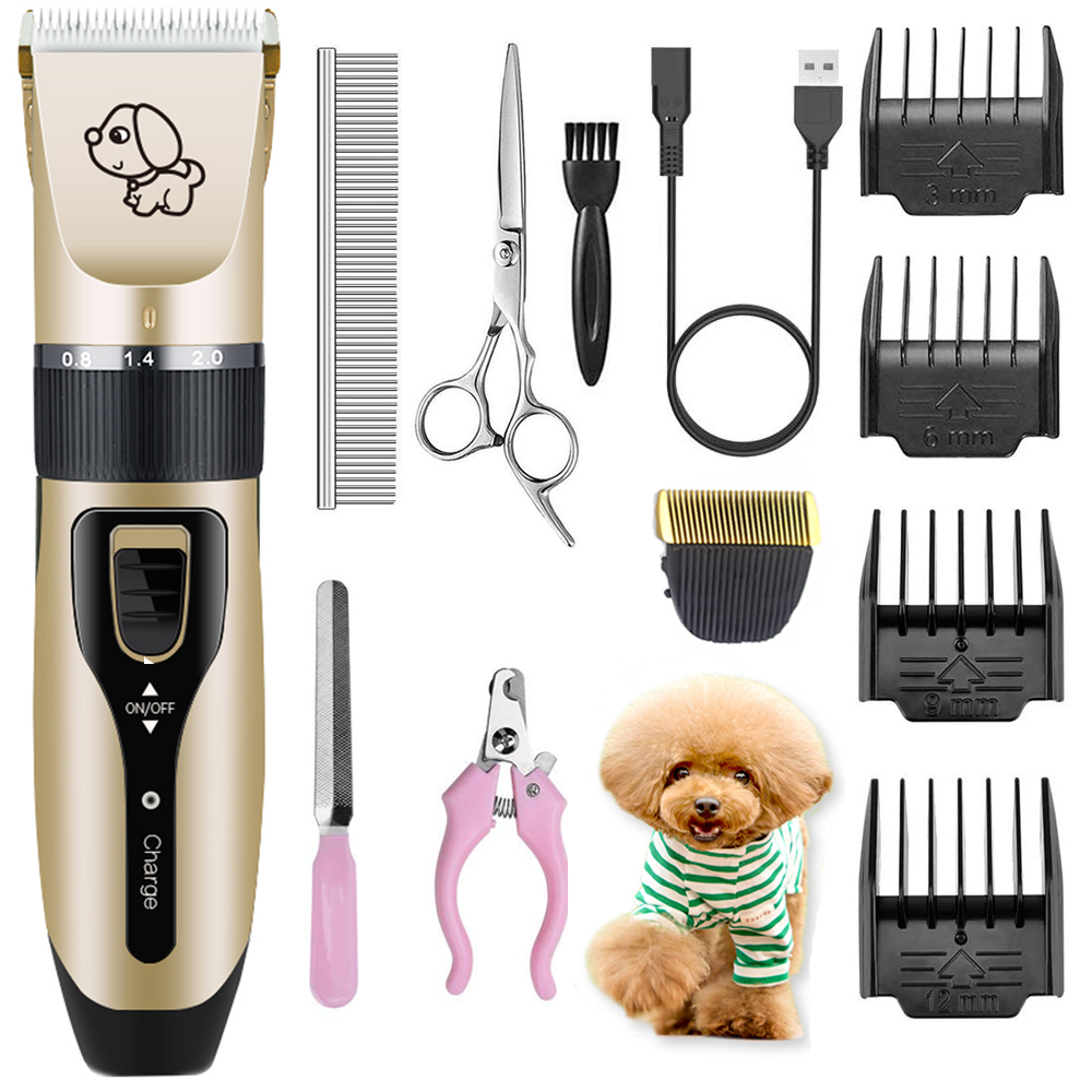 Electrical Dog Hair Trimmer USB Charging Pet Hair Clipper Rechargeable Low-noise Cat Hair Remover Grooming Hair Cutter Machine image