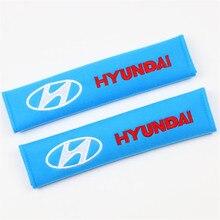 Car-Seat-Belt-Cover Auto-Accessories HYUNDAI Corolla Toyota 2PCS Cotton for Hyundai/Avensis/Hilux/..