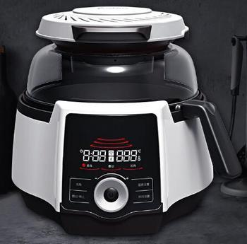 Inteligentna kuchenka indukcyjna ogrzewanie smażone gotowanie wok smażenie mieszanie holloware 220v inteligentne urządzenie do gotowania robot kuchenny tanie i dobre opinie SANWOKI CE UE Związek wielowarstwowa dolny 1950 w 220 v 2000w 4 5L touch screen 320*440*325mm 280*120mm 2-3 people SA810