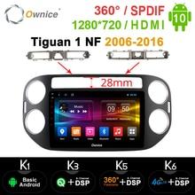 1280*720 Ownice 2 DIN Radio samochodowe nawigacja GPS k3 k5 k6 dla Volkswagen Tiguan 1 NF 2006 2008 2010 2012 2016 Android 10.0 SPDIF