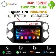 1280*720 ownice 2 din jogador de rádio do carro gps navi k3 k5 k6 para volkswagen tiguan 1 nf 2006 2008 2010 2012 2016 android 10.0 spdif
