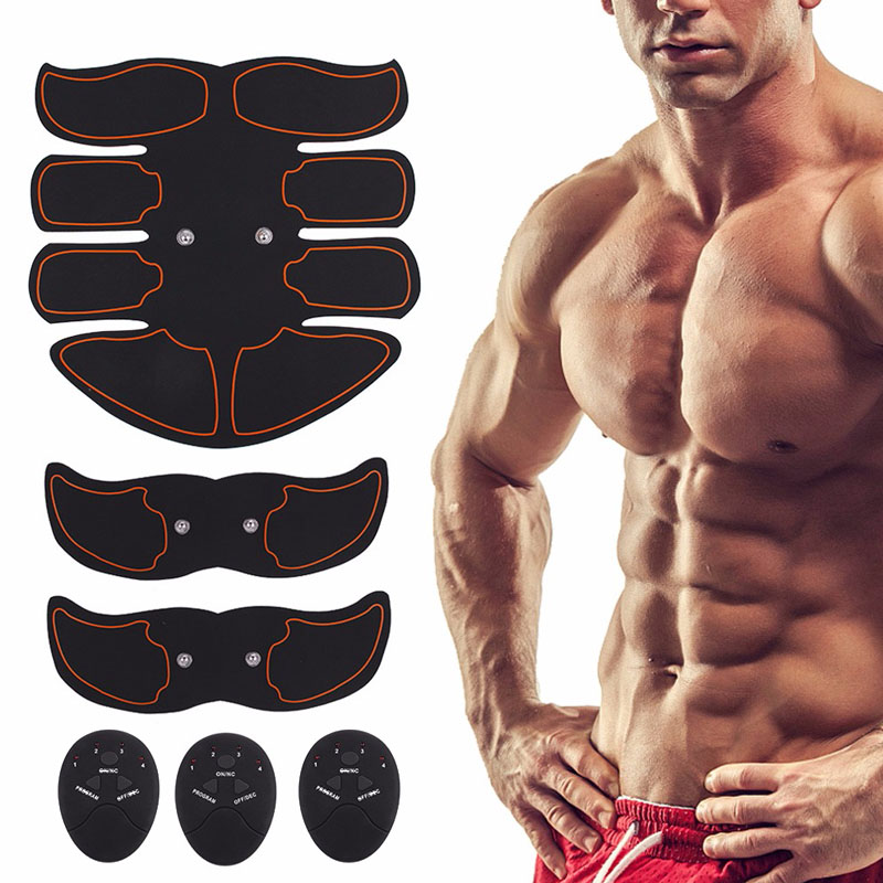 Abdominal Muscle Exerciser Trainer Belly Leg Arm Fitness Buttock Hip Exercise Electric Simulators Massage Press Workout Home Gym