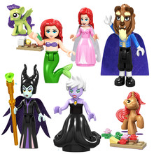 Legoing Friends Princess Beast Figurine Toys For Children Cinderella Anna Mulan Figures Prince Girls Alana Elsa Figure Girl Toys(China)