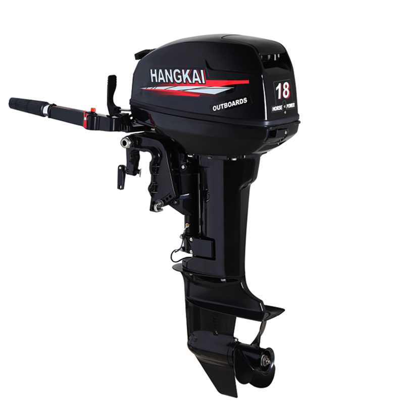 1PC 2 Stroke 18HP Outboard Motor Boat Engine Boat Motor Water Cooling System Hand-start Motor High Quality