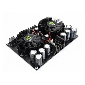 Image 3 - UNISIAN TDA7293 2.0 ערוצים אודיו מגבר כוח Class 100W * 2 מתח גבוה HIFI דיגיטלי מגברי לוח קירור מאוורר