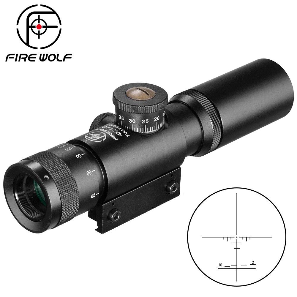 Компактный оптический прицел SS2 4x21 AO для охотничьей пневматической винтовки, тактический оптический прицел с гравированным стеклом, прицел...