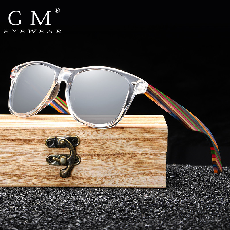 GM Polarized Sunglasses for Boys and Girls with Recycled Frames and Color Wood Temples S5062