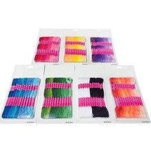 Похожие нитки 12 шт. вышивка крестиком хлопковое шитье, моток пряжи нить для вышивки многофункциональная нить набор градиентный цвет