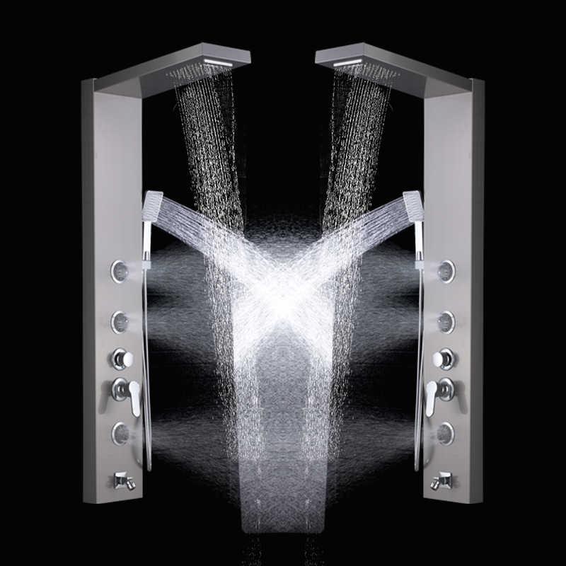 FMHJFISD deszcz prysznic wodospad łazienka Panel prysznicowy kran ciała SPA dysze do masażu wieża kolumna prysznicowa mikser kran wody z kranu