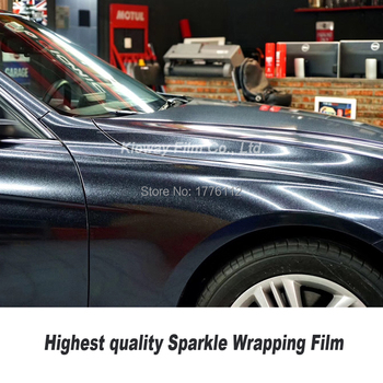 Classic upgrade Glossy Vinyl  For Car Wrap With Air release sparkle Glitter vinyl wrap Pearl Film Vehicle styling German glue