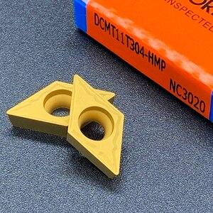 Image 3 - Lama Originale DCMT070204 DCMT11T304 DCMT11T308 HMP NC3020 di Alta Qualità Strumento Tornitura Interna Inserto In Metallo Duro Per Acciaio Inox