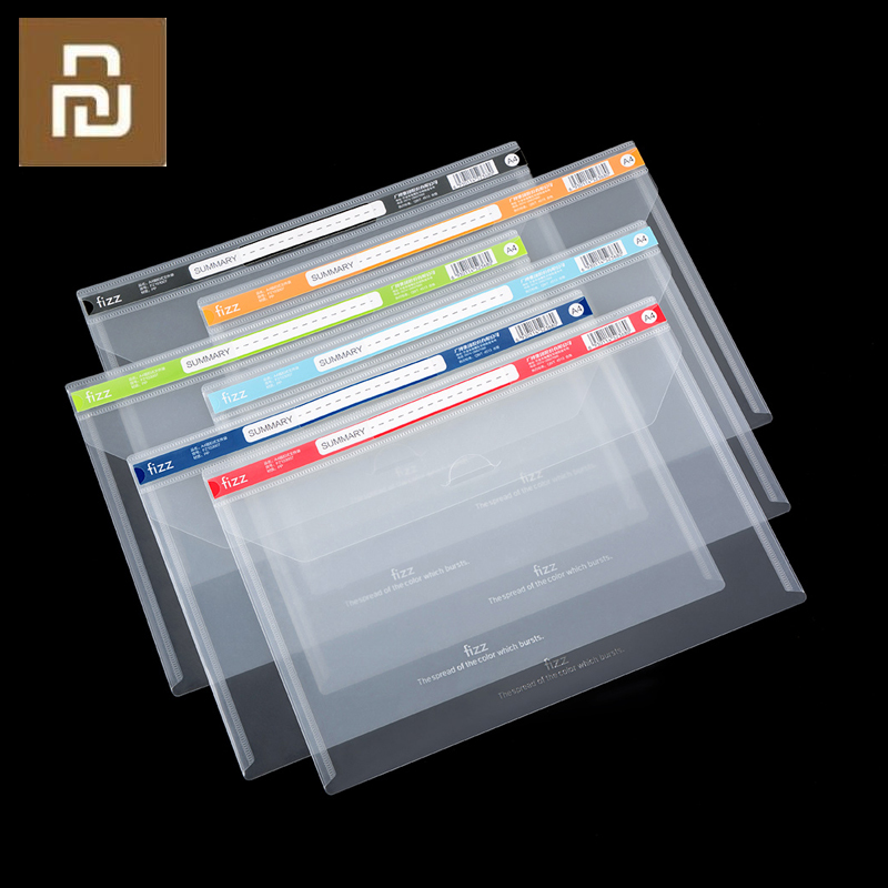 New Mijia Youpin Fizz Buckle Type A4 File Bag File Folder Stationery School Office Case PP 6colors