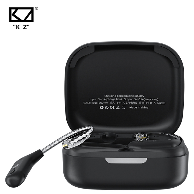 KZ AZ09 Wireless Upgrade Cable Bluetooth-compatible 5.2 HIFI Wireless Ear Hook C PIN Connector With Charging Case 2