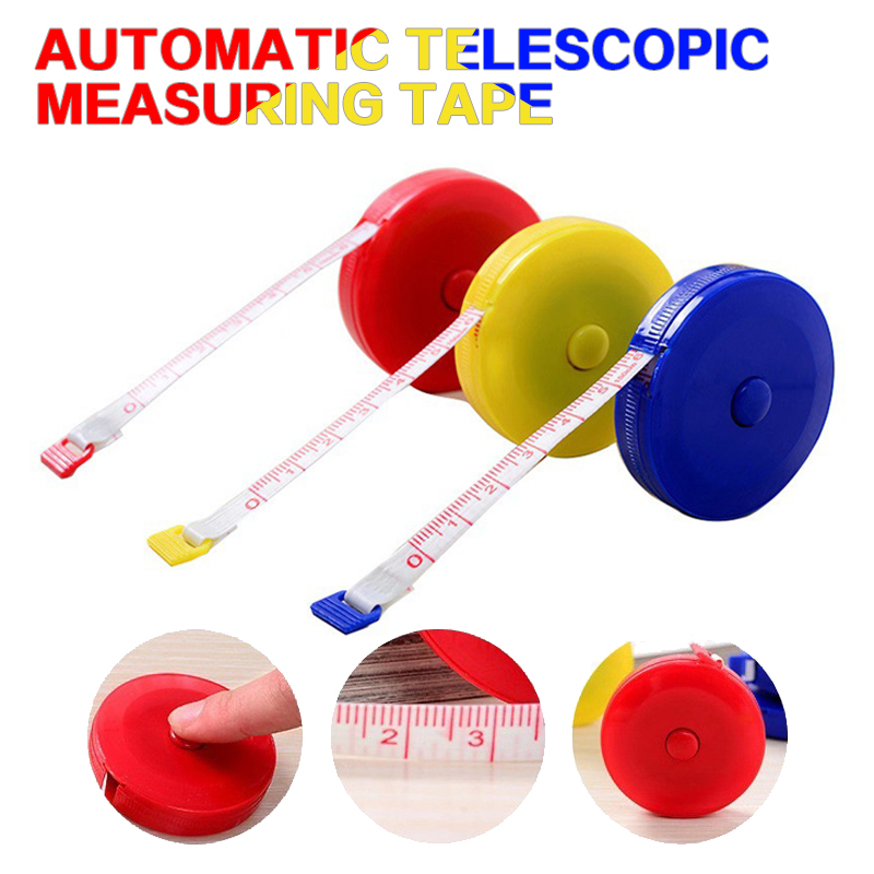 Tape Measure Measuring Tape Measuring Tape Advertising Gifts Automatic Telescopic Measuring Tape. 1.5M ABS Shell + Tape Fiber