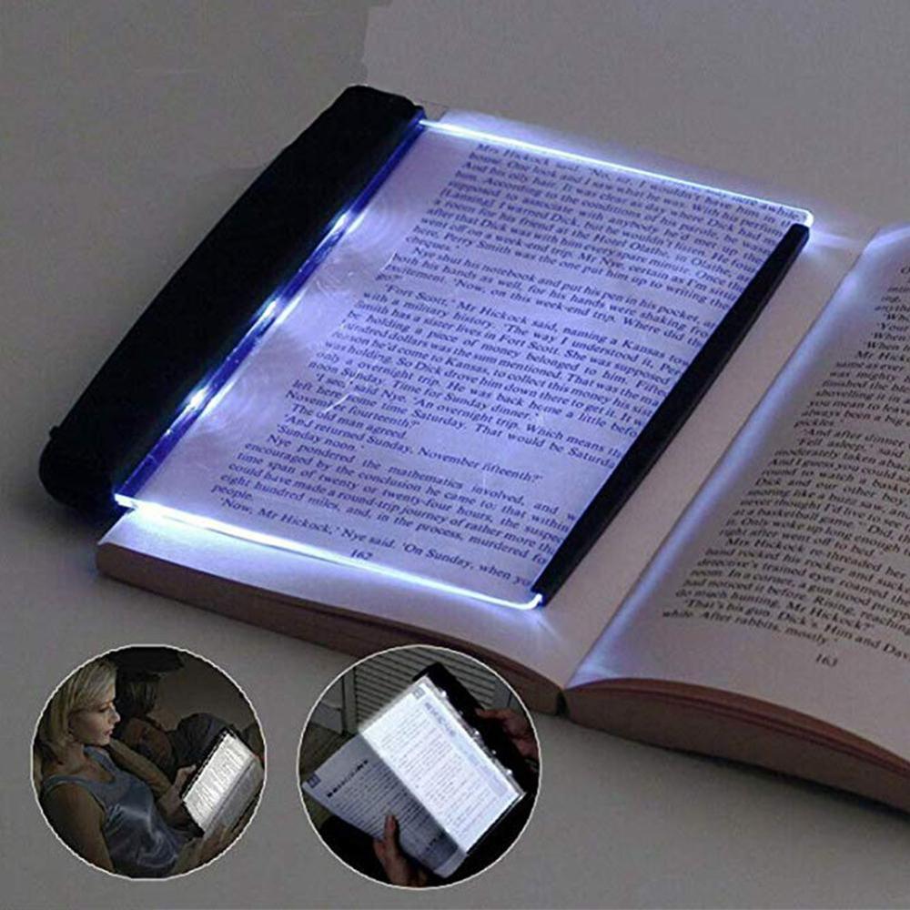 Nueva lámpara de placa creativa LED lectura libro Luz de protección de ojos batería luz de noche luz de lectura escolar artículo de papelería para estudiante