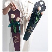 10 шт один цветок розы бумажные пакеты коробка День Святого Валентина Свадебный декор розовый цветок упаковка подарочная коробка букет цветочный материал
